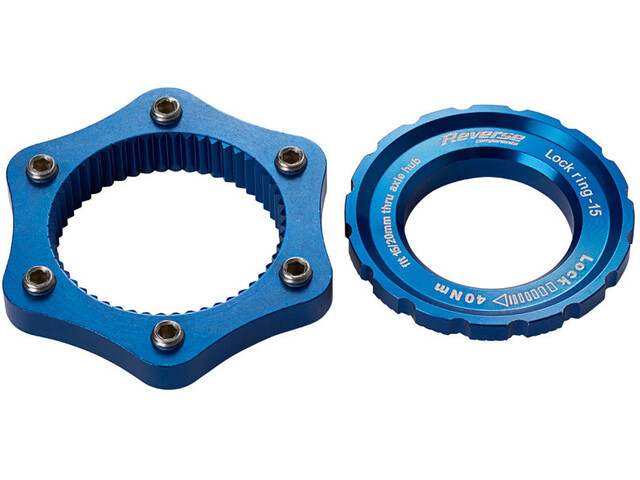 Reverse Centerlock-adapter, dark blue